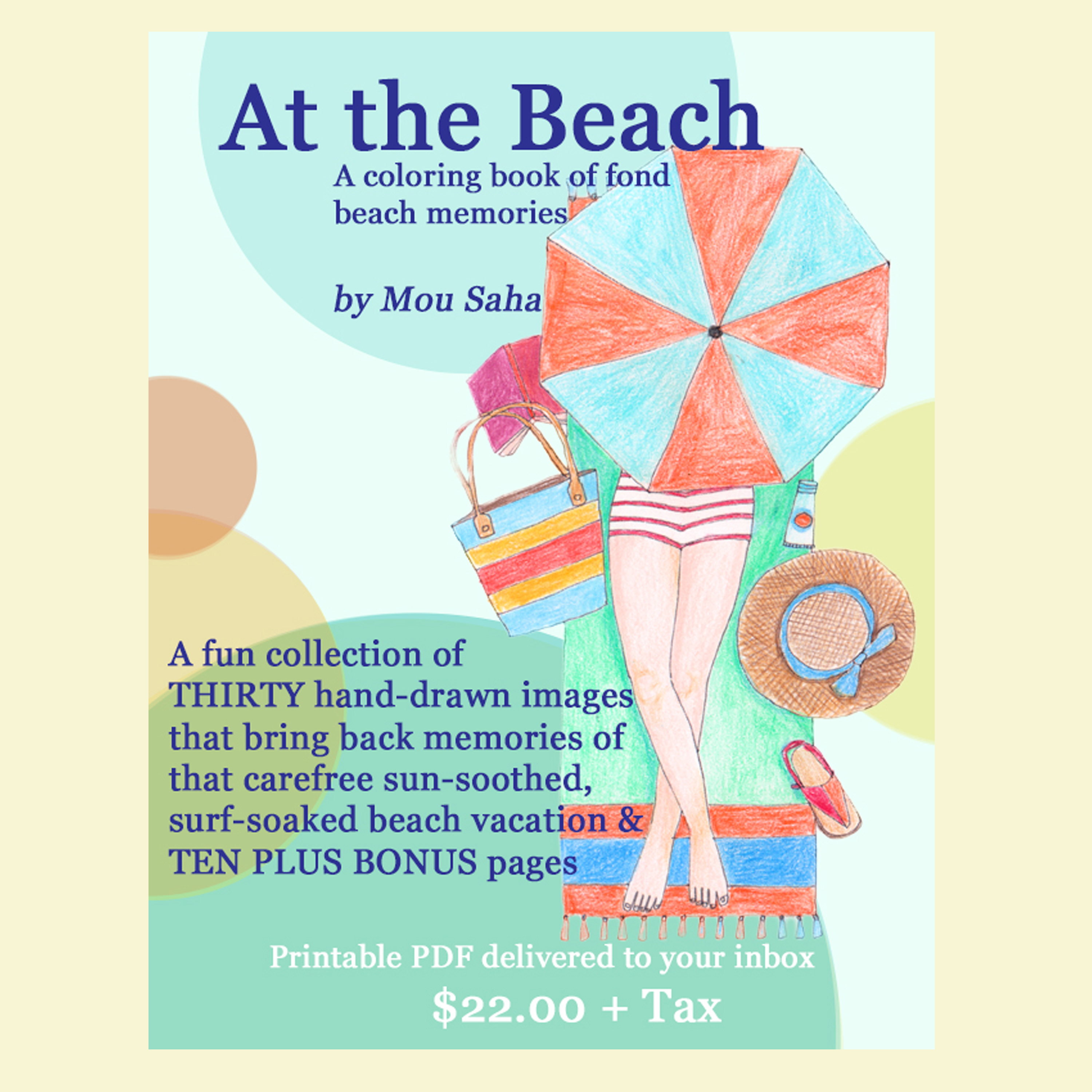 at the beach printable coloring book of fond beach memories with