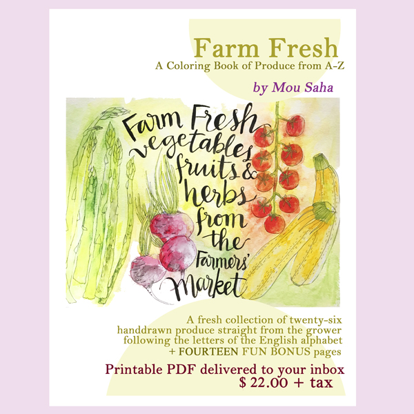 farm fresh printable coloring book of produce from a z with 14